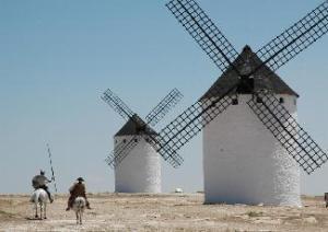 Quijote molinos de viento